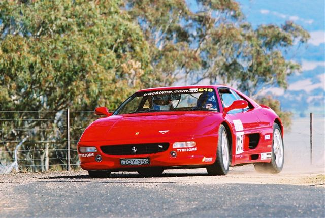East Coast Targa Tarmac Rally Ferrari 355 Drivers Glen Coutino, Johnny Greaves - Click to enlarge